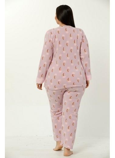 Akbeniz Welsoft Kadın Pijama Takım Lila